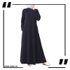 Navy Airline Flared Abaya