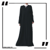 ZA29 Black Haze V Cut Neck Abaya