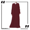 ZA29 Haze V Cut Neck Abaya Burgundy