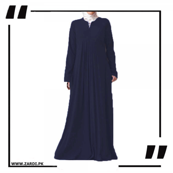 ZA29 Haze V Cut Neck Abaya Navy