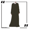 ZA29 Haze V Cut Neck Abaya Olive