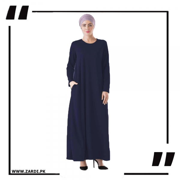ZA34 Navy Round Neck Maxi Dress 1