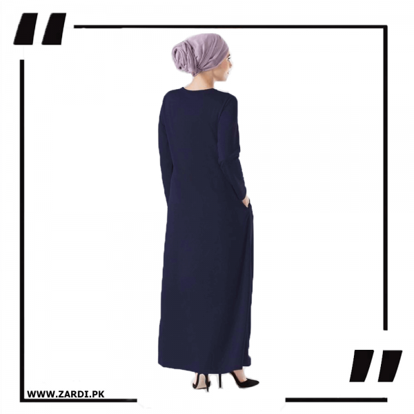 ZA34 Navy Round Neck Maxi Dress 2