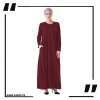 ZA34 burgundy Round Neck Maxi Dress