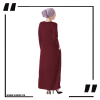 ZA34 burgundy Round Neck Maxi Dress 3