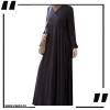 Black Cross Layered Abayas