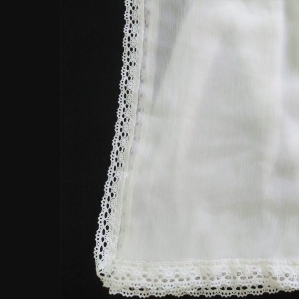 ZD08 White Chiffon Dupatta Large With Lace On All 4 Sides2