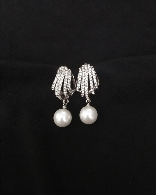 ZE14 Drop Earrings – Silver