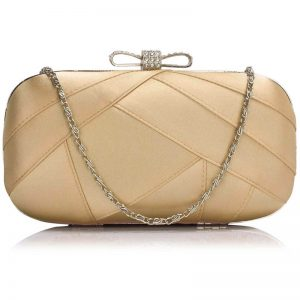 nude satin clutch evening bag