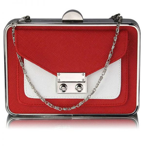 lse00268-red-white-hardcase-clutch-bag-with-long-shain