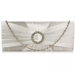 ivory sparkly crystal satin evening bag