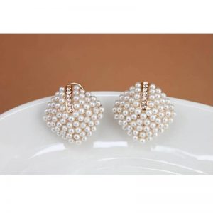Gold Pearl Stud Earring Women Jewelry