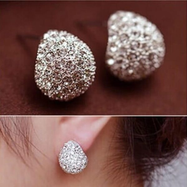 AE47 Silver Cresent Stud Earring Ladies Jewellery