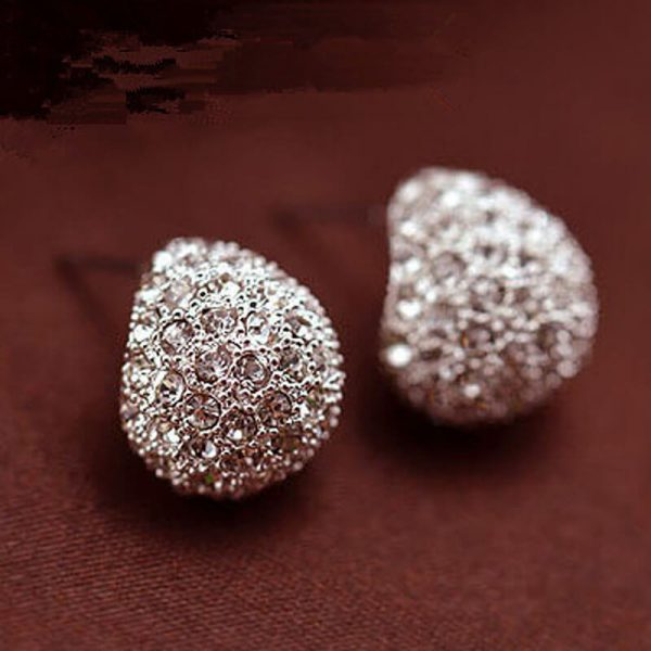AE47 Silver Cresent Stud Earring Ladies Jewellery1