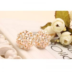 Flower Gold Stud Earring 2