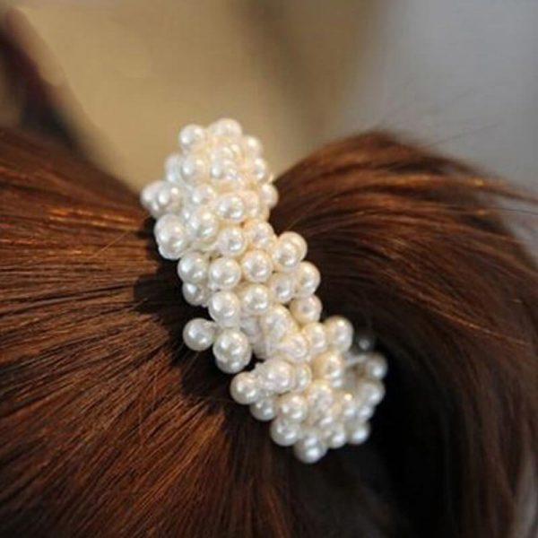AH01 White Beaded Pearl Hair Band1