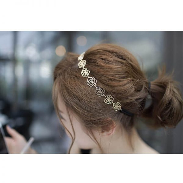AH05 Gold Floral Head Hair Band 4