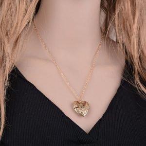 Gold Heart Fashion Necklace Latest Design