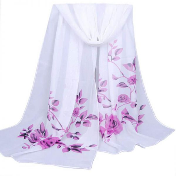 ASC07 Floral Printed Chiffon Scarf Best