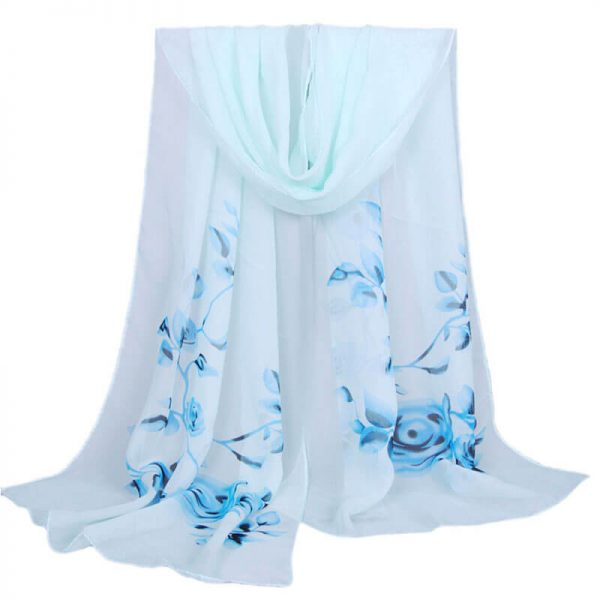 ASC08 Floral Printed Chiffon Scarf Best