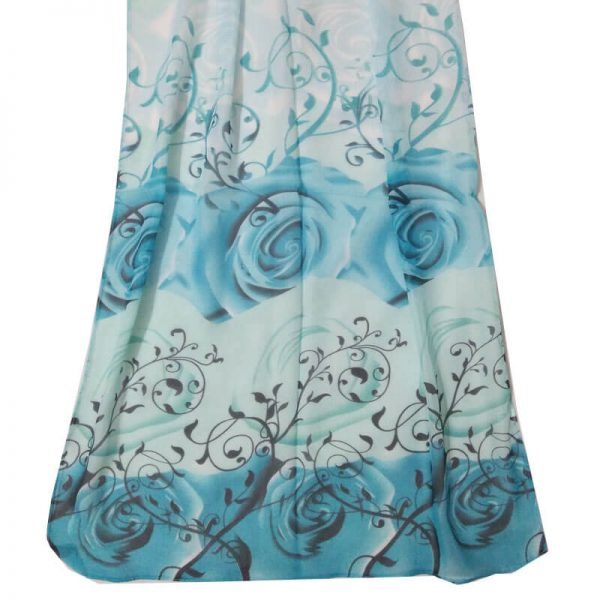 ASC11 Floral Printed Chiffon Scarf Best