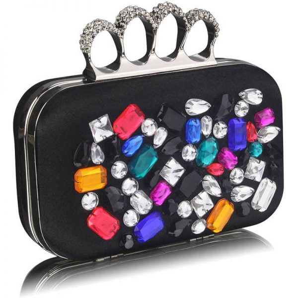 Black Knuckle Rings Clutch – LSE00171-1
