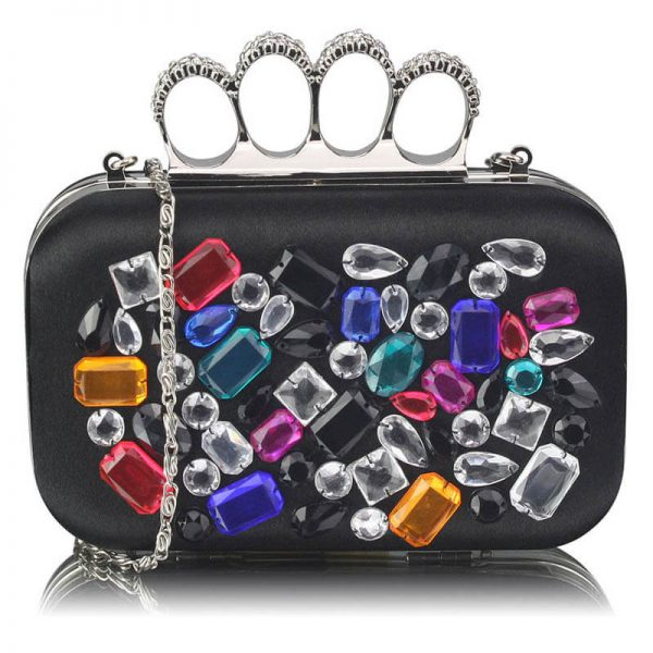 Black Knuckle Rings Clutch – LSE00171