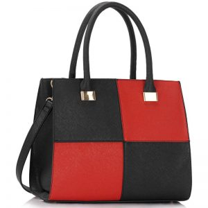 Black/Red Fashion Tote Handbag
