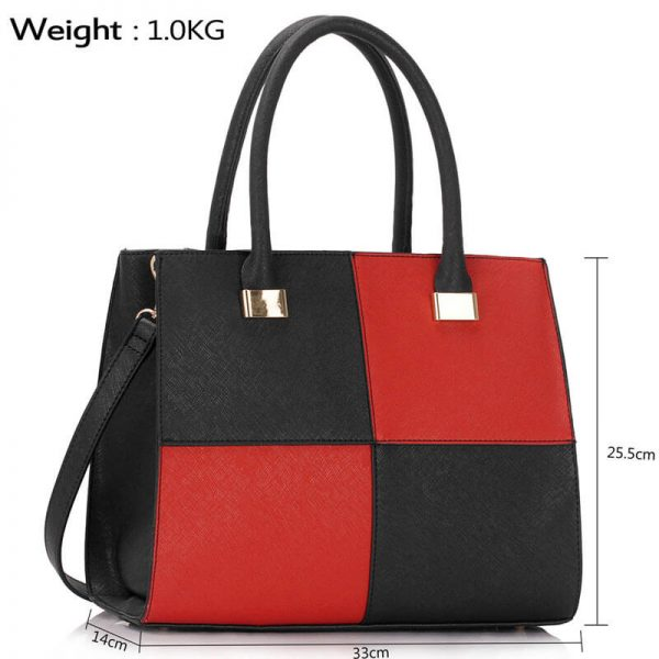 BlackRed Fashion Tote Handbag – LS00153M_(4)