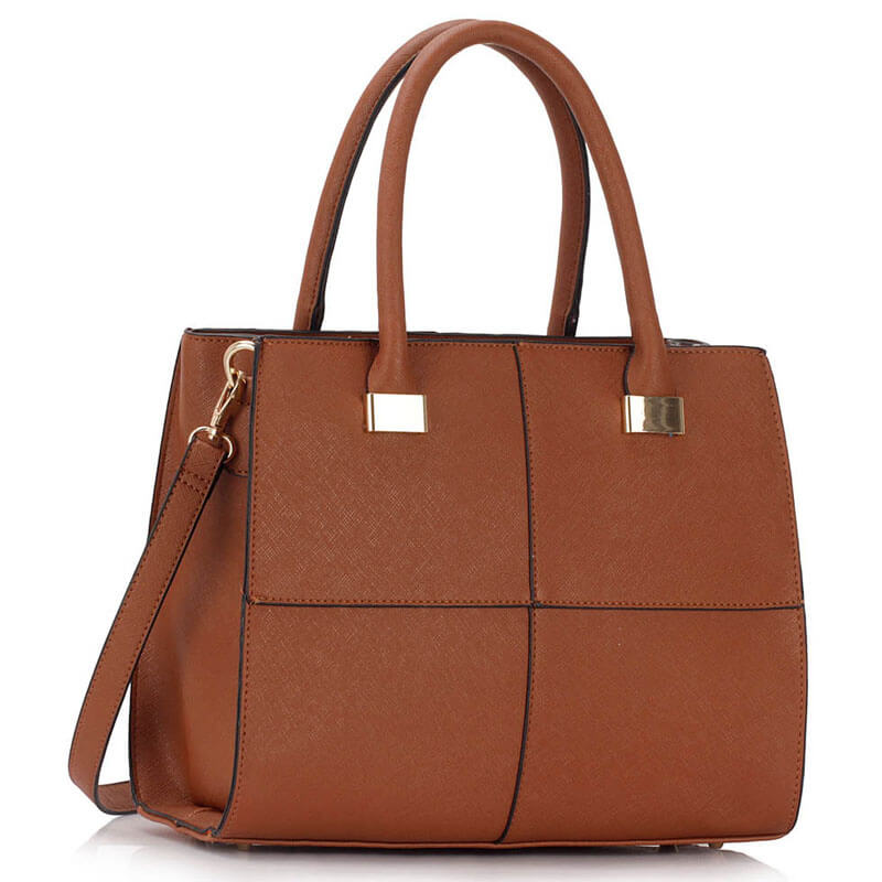 Brown Fashion Tote Handbag