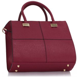 Burgundy Fashion Tote Handbag