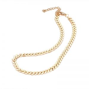 Gold Classic Leaves Stylish Necklace