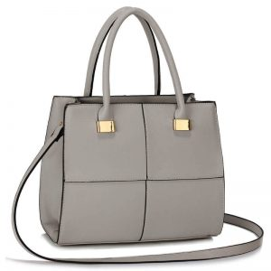 Grey Fashion Tote Handbag