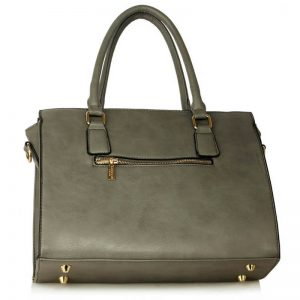 Grey Faux Leather Handbag for Women