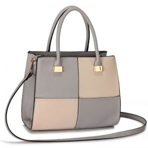 Grey/Nude Fashion Tote Handbag
