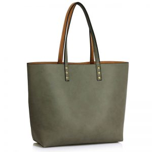 Grey Nude Handbag Reversible