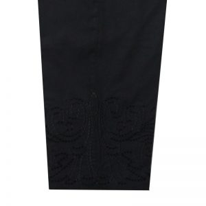 Black Trouser With Embroidery