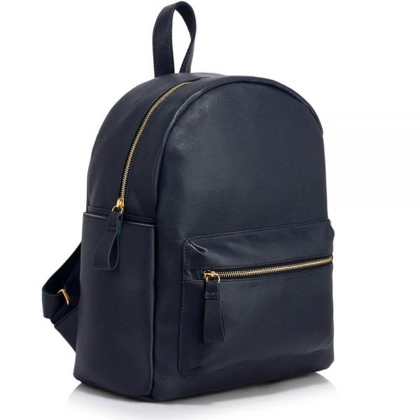LS00186C-Ladies Backpack with front pocket- Navy__1_