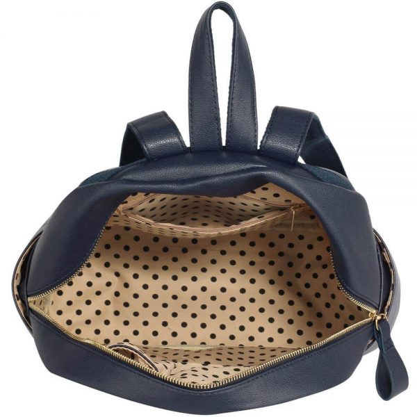 LS00186C-Ladies Backpack with front pocket- Navy__3_