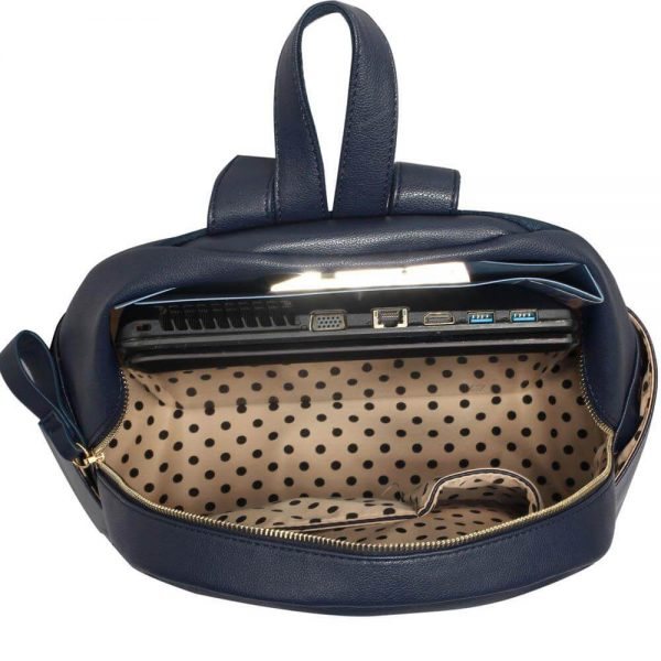LS00186C-Ladies Backpack with front pocket- Navy__5_