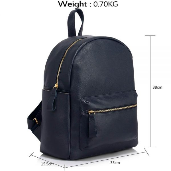 LS00186C-Ladies Backpack with front pocket- Navy___4_