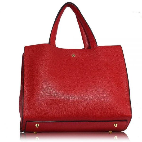 LS00236-RED_Bow Tie Shoulder Tote Bag_2_