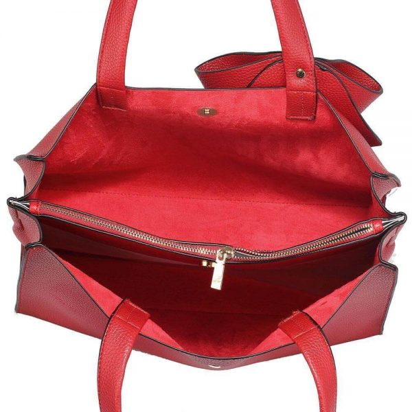 LS00236-RED_Bow Tie Shoulder Tote Bag_3_