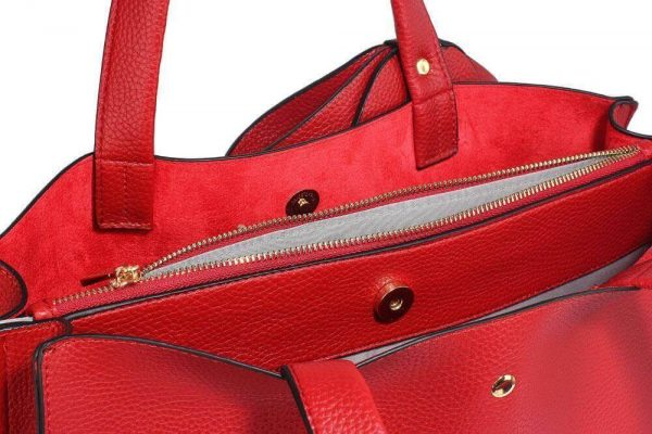 LS00236-RED_Bow Tie Shoulder Tote Bag_4_