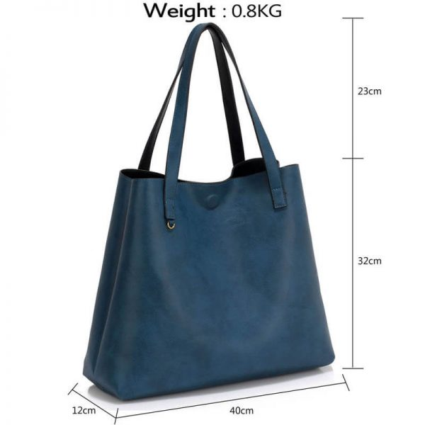 LS00493 Handbag Reversible With Free Pouch – black nav_4_