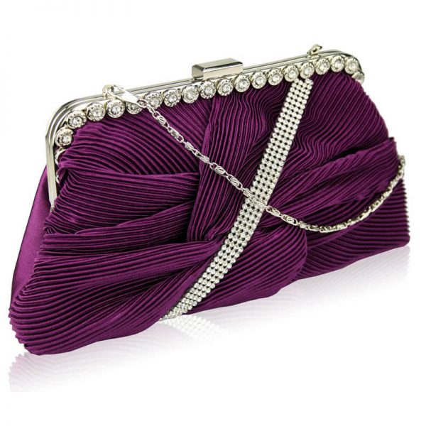 LSE0096 – Purple Crystal Evening Clutch Bag-5