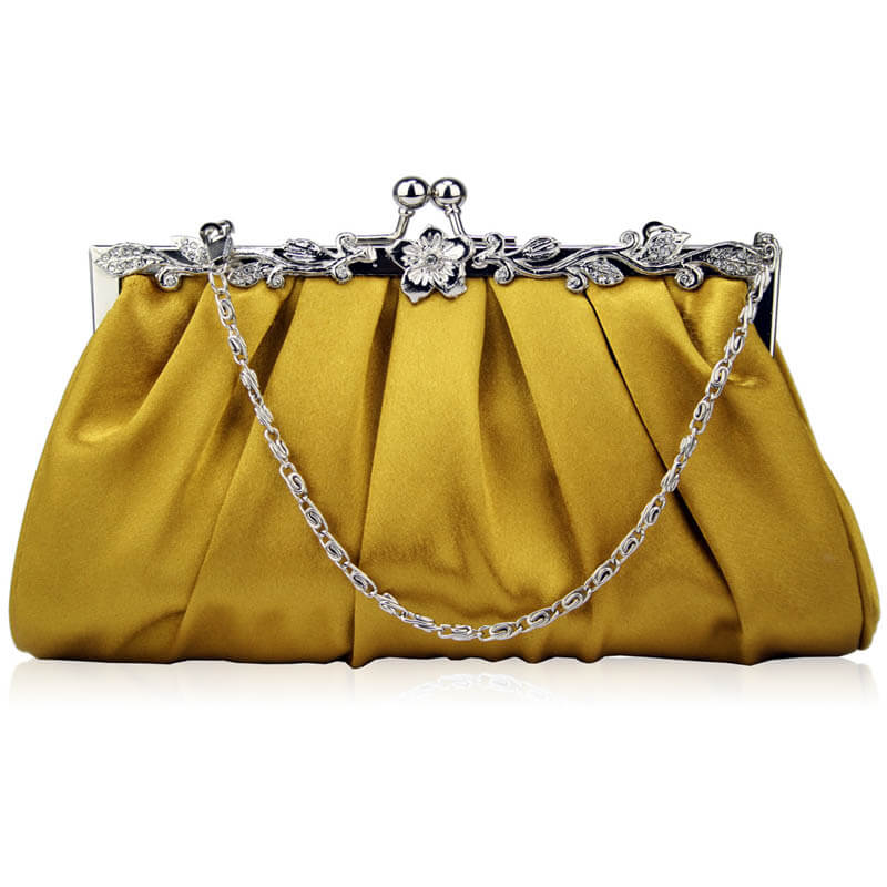 Gold Crystal Evening Clutch Bag