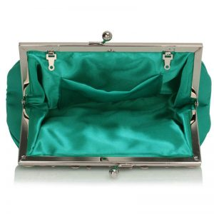 Turquoise Crystal Evening Clutch Bag