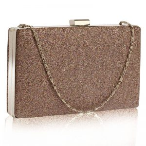 Multi Glitter Clutch Bag