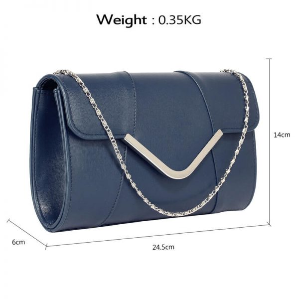Navy Flap Clutch Purse – LSE00329A_2_